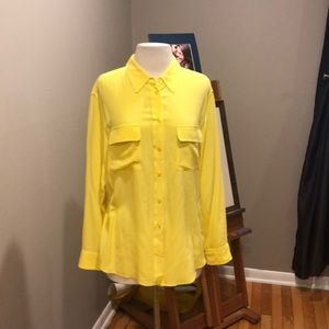 EQUIPMENT LEMON YELLOW SILK SHIRT
